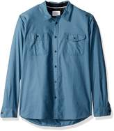 Quiksilver Waterman Men's Tarno Long Sleeve Button Down Shirt