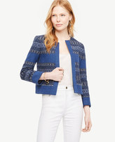 Ann Taylor The Mixed Stripe Jacket