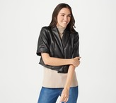 Isaac Mizrahi Live! Special Edition Faux Leather Cropped Jacket