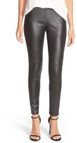 Trouve Women's Faux Leather Leggings