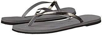 Havaianas You Metallic Flip Flops (Sand Grey/Light Golden) Women's Sandals