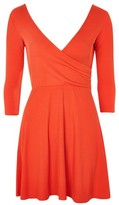 Topshop Wrap Back Skater Dress