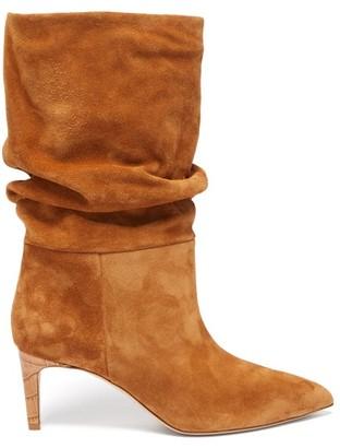 Paris Texas Slouchy Suede Boots - Tan