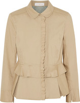 Tory Burch Delia pleated cotton-poplin jacket