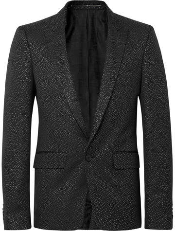 Givenchy Black Wool-Blend Lurex Blazer