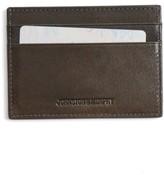 Johnston & Murphy Men's Leather Card Case - Grey