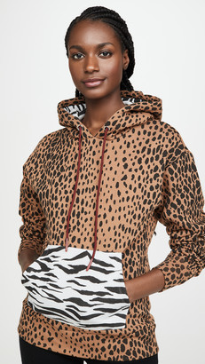 Good American Active Mixed Animal Hoodie