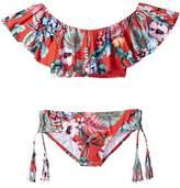Seafolly Jungle Paradise Ruffle Tankini Set Girl's Swimsuits One Piece