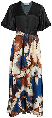 MUNTHE Milfoil Tie-Dye Skirt Maxi Dress