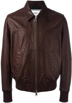Ami Alexandre Mattiussi leather zipped jacket - men - Leather/Acetate - XS