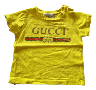 Gucci Yellow Cotton Tops