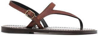 K. Jacques Valerie slingback leather sandals