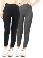 iLoveSIA Women Tights Yoga Workout Leggings Pants Size L Grey+Black+Blue