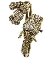 """Heidi Daus Disney's Beauty and the Beast """"Blooming Romance"""" Pavé Crystal Covered Dial Cuff Watch"""