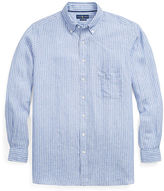 Ralph Lauren Big & Tall Striped Linen Sport Shirt