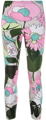 Fendi Floral Velvet Leggings
