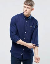 Lyle & Scott Oxford Shirt In Regualr Fit In Indigo Blue