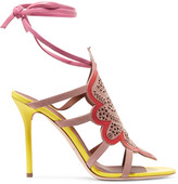 Malone Souliers Eva laser-cut suede and leather sandals