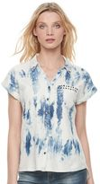 Rock & Republic Women's Acid Wash Chambray Shirt