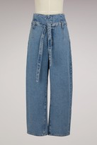 Current/Elliott Current Elliott high rise slouchy jeans with belt