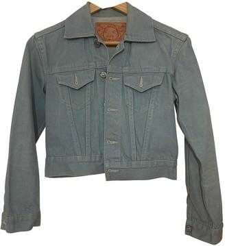Evisu Blue Denim - Jeans Jacket for Women Vintage