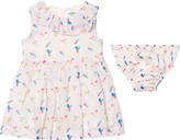 No Added Sugar Pink Frill Floral Cotton Dress with Bloomers