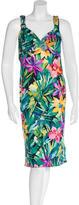 Blumarine Floral Print Embellished Dress