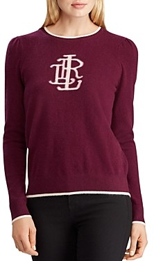 Ralph Lauren Ralph Washable Cashmere Monogram Sweater - 100% Exclusive
