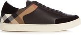 Burberry Rettford panelled low-top leather trainers