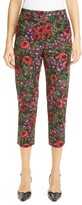 Marni Amarcord Floral Print Faille Crop Trousers