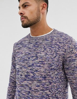 Jack and Jones Originals knitted sweater in navy