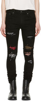 Amiri Black Art Patch Skinny Jeans