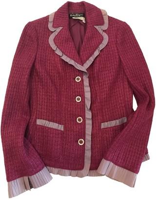 Salvatore Ferragamo Pink Cotton Jacket for Women Vintage