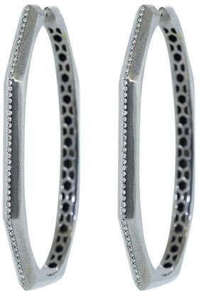 Sorellina Otto diamond hoop earrings