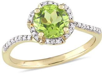Diamond Select Cuts 14K 1.62 Ct. Tw. Diamond Peridot Ring