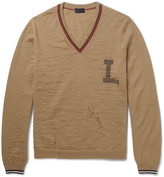 Lanvin - Appliquéd Distressed Wool Sweater