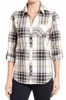 Foxcroft Desert Herringbone Plaid