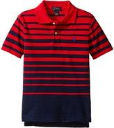 Polo Ralph Lauren Yarn-Dyed Mesh Short Sleeve Shirt (Little Kids/Big Kids