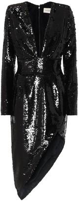 Alexandre Vauthier Sequined asymmetric midi dress