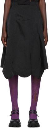 Comme des Garcons Black Twill Side-Seam Skirt