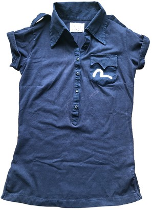 Evisu Blue Cotton Top for Women Vintage