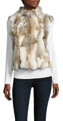 La Fiorentina Dyed Rabbit Fur Vest