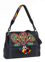 Etro Multi-Embellished Leather Shoulder Bag