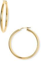 18Karat Gold 40mm Large Hoop Earrings