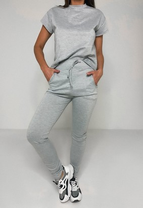 Missguided Grey T Shirt And Joggers Co Ord Set