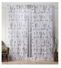 """Exclusive Home Nicole Miller La Petite Fleur Floral Cotton Hidden Tab Top 50"""" X 96"""" Curtain Panel Pair"""