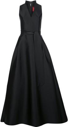 Carolina Herrera Standing-Collar Full-Skirt Gown