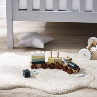 The White Company Wooden Pull-Along Train Toy, Natural, One Size