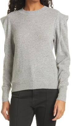 Frame Kennedy Folded Shoulder Cashmere Sweater