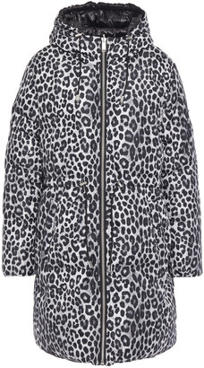MICHAEL Michael Kors Quilted Leopard-print Shell Down Hooded Coat